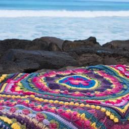 Something by Vera handmade crafts and crochet blanket Sophie beach gift kids children baby shower
