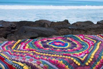 Something by Vera handmade crafts and crochet blanket Sophie beach gift kids children baby shower