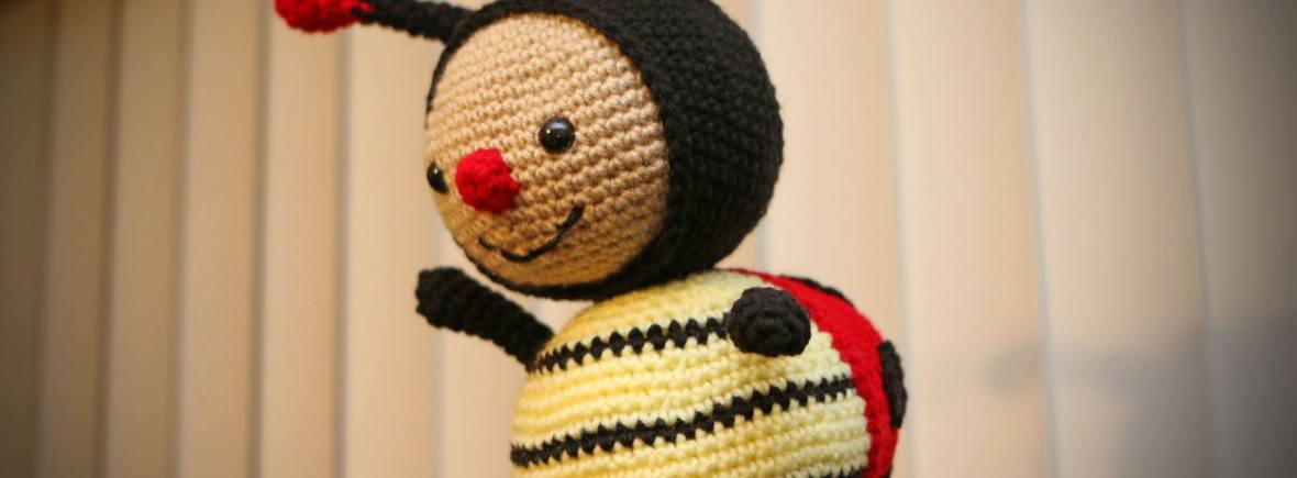 dottie the ladybug, crochet, handmade in hawaii