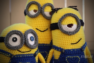 Something by Vera handmade crafts and crochet Despicable me Minion Minions Bob Kevin Stuart gift kids children baby shower
