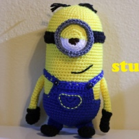 Something by Vera handmade crafts and crochet Despicable me Minion Minions Stuart gift kids children baby shower