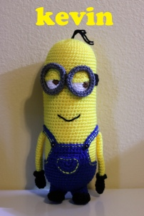 Something by Vera handmade crafts and crochet Despicable me Minion Minions Kevin gift kids children baby shower