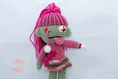 Something by Vera handmade crafts and crochet amigurumi zombie doll girl gift kids children baby shower