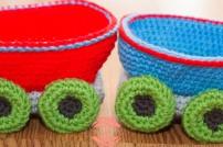 christmas train amigurumi winter wonderland crochet handmade