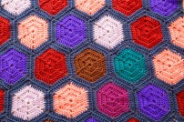 hexagon baby blanket2