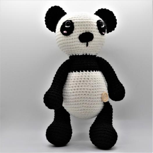 panda cinza